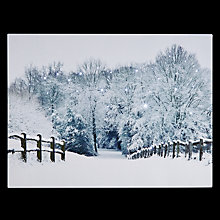 Buy John Lewis Midwinter Snow Scene Lit Canvas Online at johnlewis.com