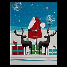 Buy John Lewis Santa and Reindeer Lit Canvas Online at johnlewis.com