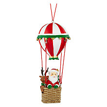 Buy John Lewis Santa in Hot Air Balloon Tree Decoration, Multi Online at johnlewis.com