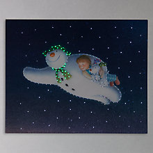 Buy Snowman Flying Lit Canvas Online at johnlewis.com