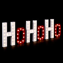Buy John Lewis Red Hohoho Christmas Lights Sign, Red/Wite Online at johnlewis.com