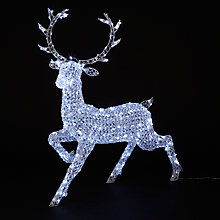 Buy John Lewis Crystal Reindeer 300 LED Christmas Light Online at johnlewis.com