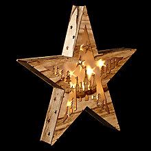 Buy John Lewis Natural Holographic Star Christmas Light, Warm White Online at johnlewis.com