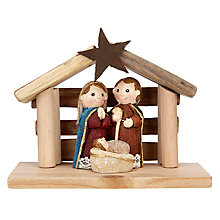Buy John Lewis Mini Manger Scene, Natural Online at johnlewis.com