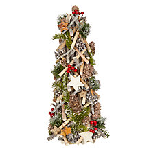 Buy John Lewis Snowdrift Mixed Pine & Cone Tabletop Tree, 24cm Online at johnlewis.com