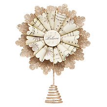 Buy John Lewis Enchantment Paper Fan Tree Topper, Multi Online at johnlewis.com