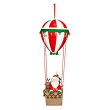 Buy John Lewis Hot Air Balloon Santa Decoration, Large Online at johnlewis.com