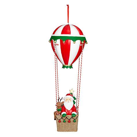 buy john lewis hot air balloon santa decoration large. Black Bedroom Furniture Sets. Home Design Ideas