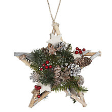 Buy John Lewis Snowdrift Pinecone Star Wreath Online at johnlewis.com