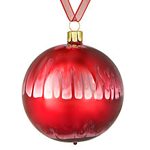 Buy John Lewis Midwinter Glass Drip Bauble, Red Online at johnlewis.com