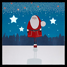 Buy John Lewis Santa on House Mini Lit Canvas Online at johnlewis.com