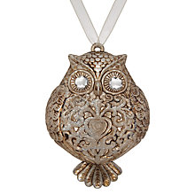 Buy John Lewis Enchantment Owl Tree Hanger, Silver Online at johnlewis.com