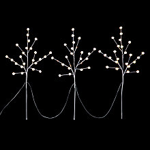 Buy John Lewis Christmas Snow Ball Twigs 72 Lights, Cool White Online at johnlewis.com