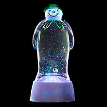 Buy Snowman Water Colour Changing Lit Figure Online at johnlewis.com