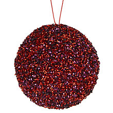 Buy John Lewis Midwinter Plastic Glamour Bauble, Red and Purple Online at johnlewis.com