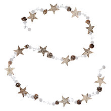 Buy John Lewis Snowdrift Star & Ice Garland, 180cm Online at johnlewis.com