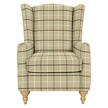 Buy John Lewis Devon Wing Armchair, Oakley Check Putty Online at johnlewis.com