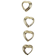 Buy Small Heart Buttons, 11mm, Gold/White Online at johnlewis.com