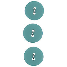 Buy Medium Matt Buttons, 19mm, Turquoise Online at johnlewis.com