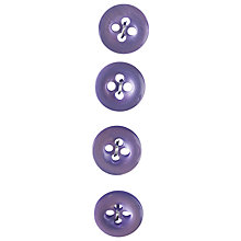 Buy Glossy Light Purple Buttons, 12mm, Pack of 4, Light Purple Online at johnlewis.com
