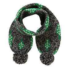 Buy Donna Wilson for John Lewis Leaf Scarf, Grey/Green Online at johnlewis.com