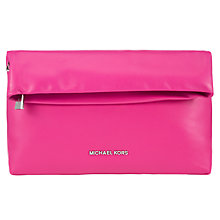 Buy MICHAEL Michael Kors Daria Fold Over Leather Clutch Bag Online at johnlewis.com