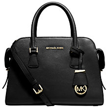 Buy MICHAEL Michael Kors Harper Medium Leather Satchel Online at johnlewis.com