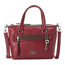 Buy Fossil Dawson Leather Satchel Online at johnlewis.com