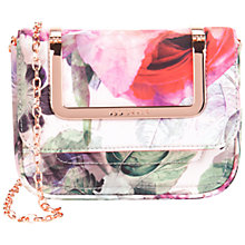 Buy Ted Baker Paigey Peony Print Clutch Bag, Dusky Pink Online at johnlewis.com