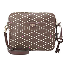 Buy Fossil Sydney Printed Crossbody, Brown Online at johnlewis.com
