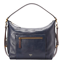 Buy Fossil Vickery Shoulder Leather Bag Online at johnlewis.com