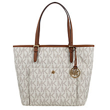 Buy MICHAEL Michael Kors Jet Set Large Snap Pocket Tote Bag Online at johnlewis.com