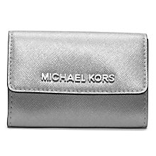 Buy MICHAEL Michael Kors Jet Set Travel Leather Coin Purse, Silver Online at johnlewis.com