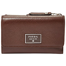 Buy Fossil Dawson Multifunction Leather Purse Online at johnlewis.com