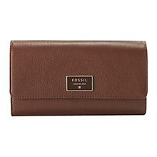 Buy Fossil Dawson Leather Flap Clutch Purse Online at johnlewis.com