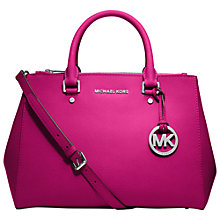Buy MICHAEL Michael Kors Sutton Medium Leather Satchel Online at johnlewis.com