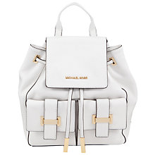 Buy MICHAEL Michael Kors Marly Leather Drawstring Backpack Online at johnlewis.com
