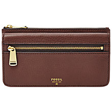 Buy Fossil Preston Flap Leather Clutch Bag Online at johnlewis.com