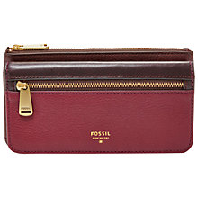 Buy Fossil Preston Flap Leather Purse Online at johnlewis.com