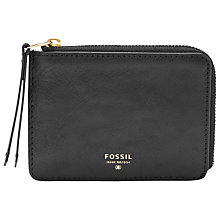 Buy Fossil Sydney Zip Coin Leather Purse Online at johnlewis.com