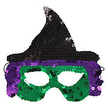 Buy John Lewis Sequin Witch Mask, Multi Online at johnlewis.com