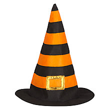 Buy John Lewis Halloween Witches Hat, Black/Orange Online at johnlewis.com