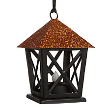 Buy John Lewis Halloween LED Lantern, Orange Online at johnlewis.com
