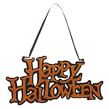Buy John Lewis Happy Halloween Sign Online at johnlewis.com