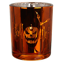 Buy John Lewis Halloween Glass Tealight Holder Online at johnlewis.com