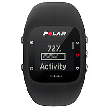 Buy Polar A300 Sports Watch with Heart Rate Monitor, Black Online at johnlewis.com