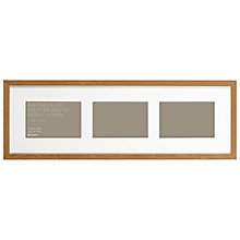 "Buy John Lewis 3 Aperture Box Frame & Mount, 6"" x 4"" (15 x 10cm) Online at johnlewis.com"