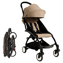 Buy Babyzen Yoyo Complete Birth Pushchair Package, Black/Taupe Online at johnlewis.com