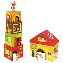 Buy Janod Wood Multikub Stacking Boxes Farm Play Set Online at johnlewis.com