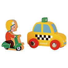 Buy Janod Wood Taxi and Scooter Set Online at johnlewis.com